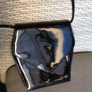 Handbags - Black patent leather shoulder bag